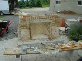 stunning outdoor fireplace construction details photos how to build a wood burning brick outdoor fireplace