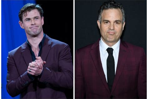Chris Hemsworth Accuses Mark Ruffalo Stealing His