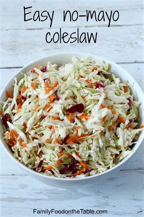 easy  mayo coleslaw  ingredients family food