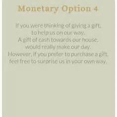 monetary gift wording images wedding gift poem