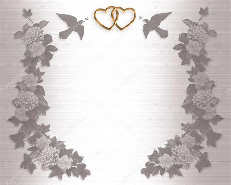 Wedding Invitation Background doves Stock Photo