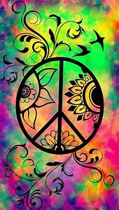 American Hippie Psychedelic Art ~ Peace Sign | **~ Peace ...