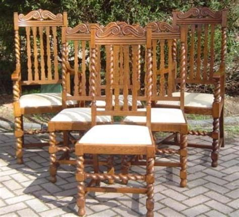 set of 6 antique oak dining chairs 28818