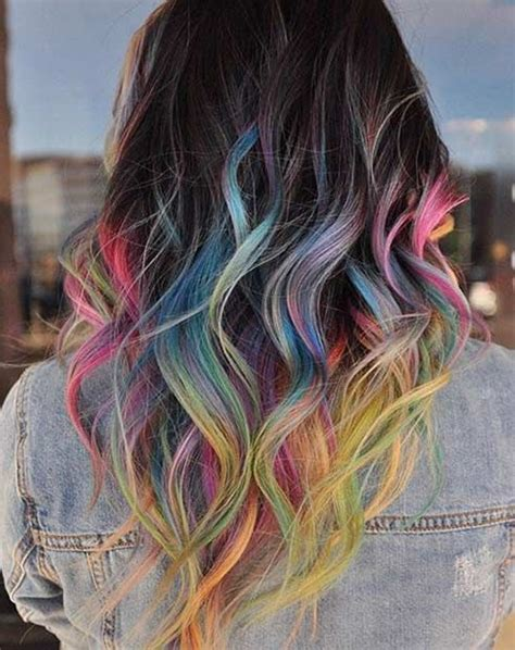 colored tips best 25 hair tips dyed ideas on pastel hair