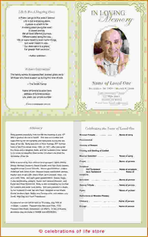 printable funeral programs  search engine  searchcom
