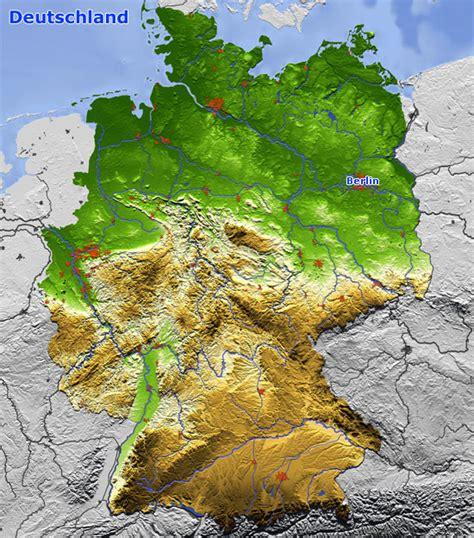 karte deutschland landkarte und satellitenbilder deutschland