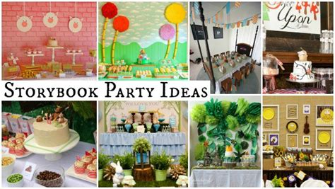 storybook party ideas moms munchkins