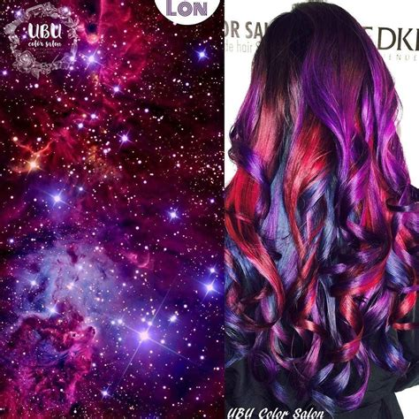 Galaxy Hair Cute Haircolors Hair