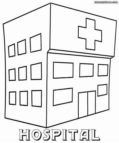 Hospital Coloring Printable Pages Sheets Building Colorings