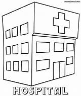 Hospital Coloring Printable Pages Sheets Building Colorings sketch template