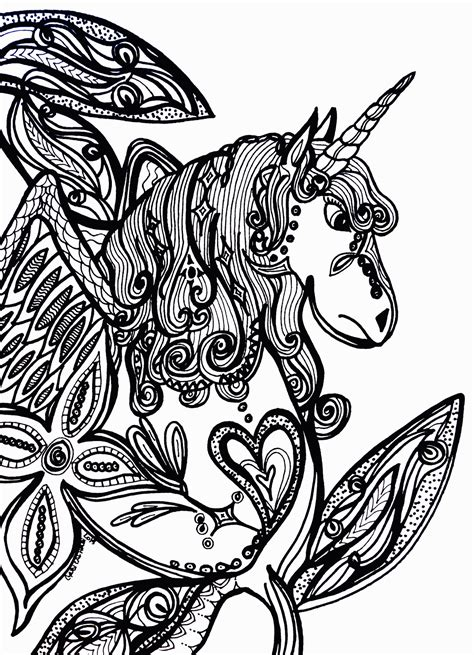 unicorn coloring pages  adults coloring home