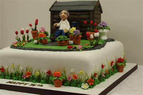 cake garden garden cake side detail a cake for a 75th birthday celebra flickr