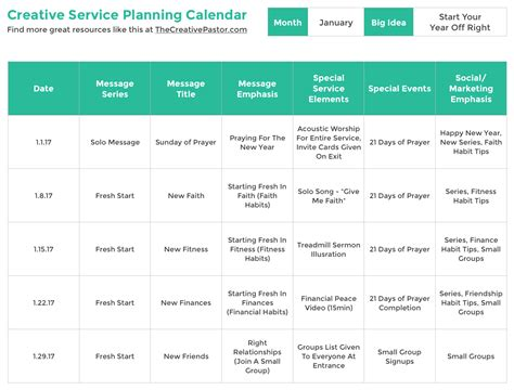 foto de The Essential Planning Calendar Your Church Needs To Be