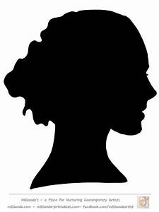 Face Silhouette Woman Stencil Template at www.milliande ...