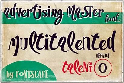 Font Master Advertising Multitalented Examples Ad Ligature
