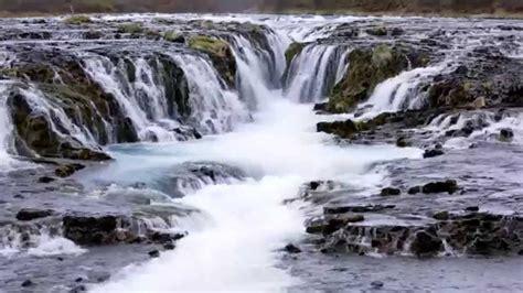 Bruarfoss Waterfall In Iceland Youtube