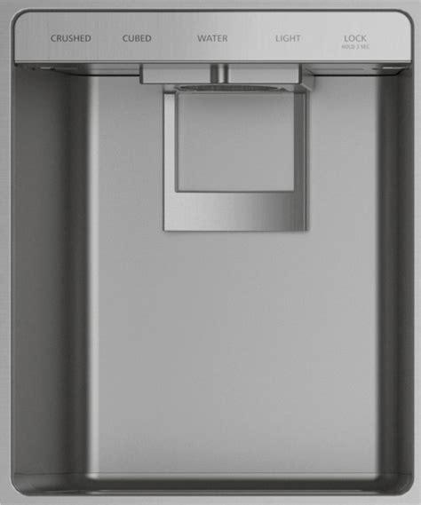monogram  cu ft stainless steel smart built  side  side refrigerator zissdnss