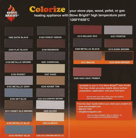 high temp paint colors stove bright 6159 high temp metallic brown stove paint