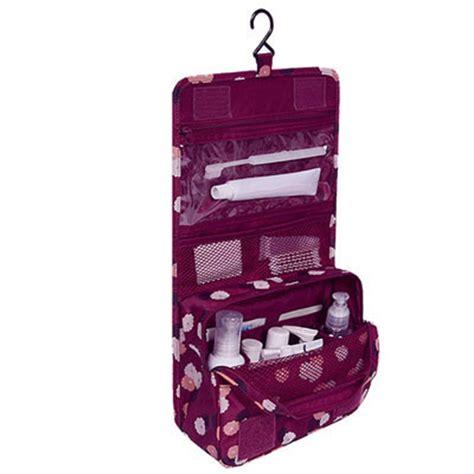 trousse de toilette cuir femme organisateur de sac a travel pouch waterproof portable toiletry bag cosmetic