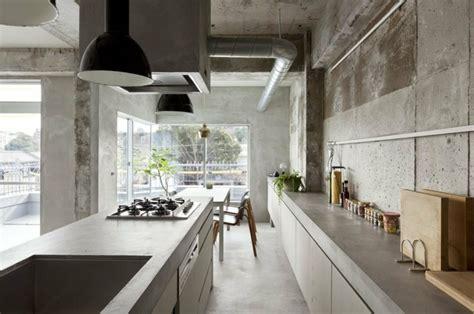 plan de travail cuisine beton béton ciré 50 idées d 39 aménagement intérieur