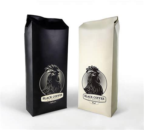 kemasan paper metal black coffee the dieline packaging branding design