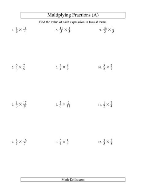 multiplying and simplifying proper and improper fractions a
