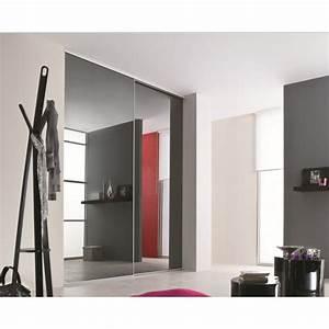 Porte Coulissante Placard Miroir : portes de placard coulissantes miroir plomb achat en ligne ~ Melissatoandfro.com Idées de Décoration