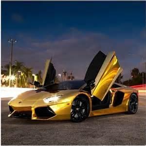 Gold Lamborghini Sports Cars