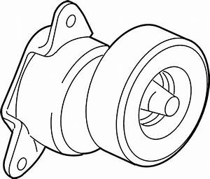 Ford Fusion Accessory Drive Belt Tensioner Assembly  Liter