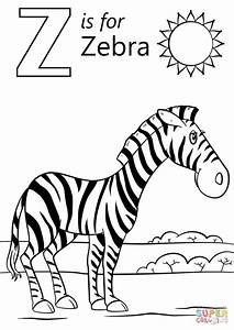 Get This Letter Z Coloring Pages Zebra - 3anz