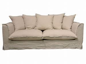 canape fixe 3 places en tissu cocoon coloris lin sable With canapé tissu fixe 3 places
