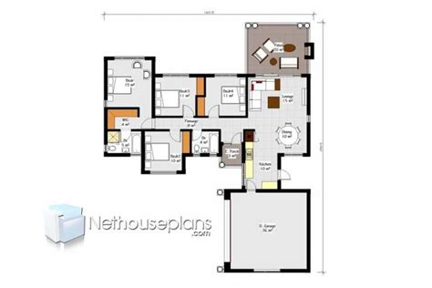 bedroom house plans drawing  sale sqm nethouseplansnethouseplans