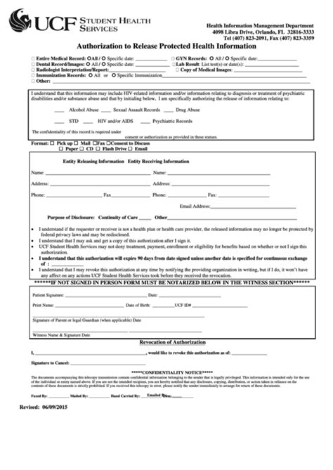 top 16 ucf immunization form templates free to download in