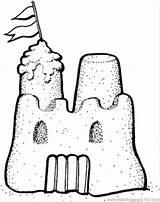 Castle Sand Coloring Printable Buildings Sandcastle Architecture sketch template