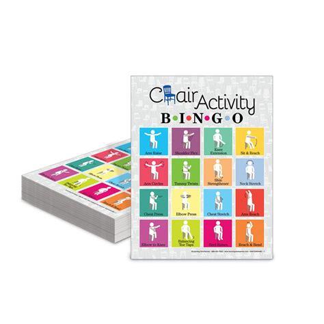 chair activity bingo