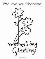 Coloring Grandma Mother Printable Cards Nana Built California Usa sketch template