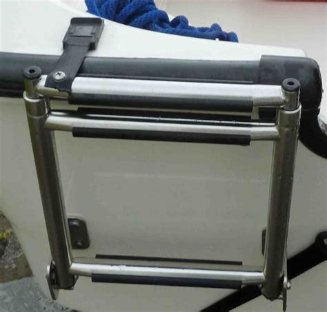 Boston Whaler Boat Ladder by Uses Straps To Go