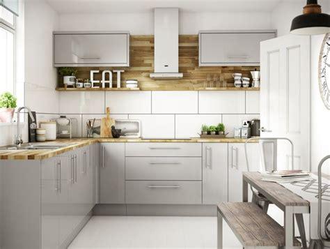 how to make oak cabinets look modern orlando grey gloss kitchen wickes co uk