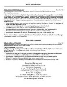 manager resume summary operations manager resume exle
