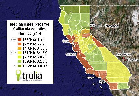 California Price by Heat Maps Offer A Visual View Of U S Housing Prices Wsj