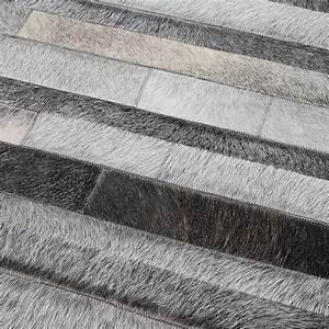 tapis en patchwork de cuir gris jacob home spirit 170x230 With tapis cuir gris