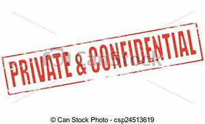 Vector Clip Art of Private and confidential - Stamp with ...