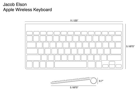 keyboard scale orthographic drawing  human factor