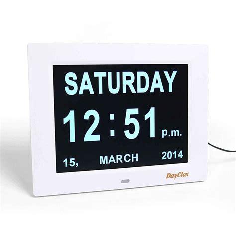 dayclox international digital calendar day clock