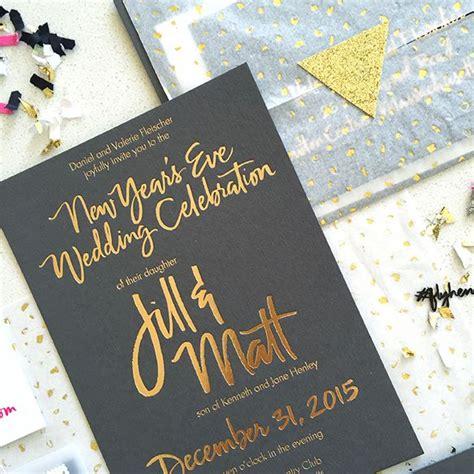 confetti  years invitation creative lettering