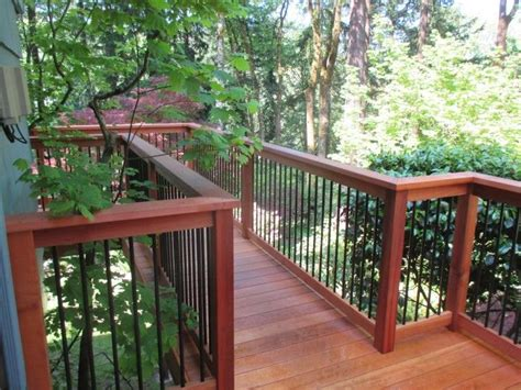 This Deck Has Clear Cedar For The Decking And Railing With