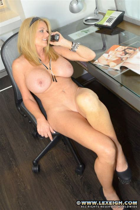 Office Milf Lexeigh Strip And Tease Milf Fox