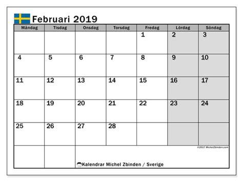 kalender februari sverige michel zbinden sv