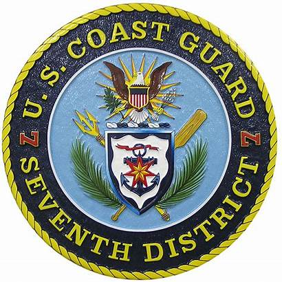 Guard Coast Seal District Plaque 7th Military