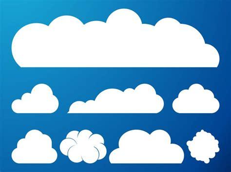 15 cloud vectors for graphic artwork freecreatives